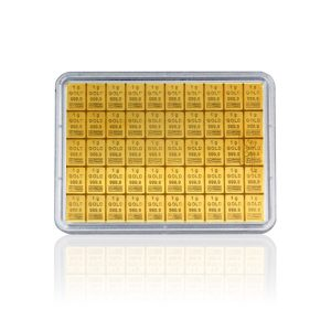 50 g Gold Tafelbarren Combibarren Valcambi (Goldplättchen)