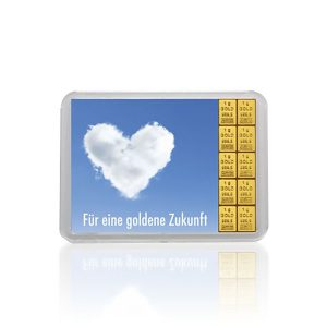 """10 g Goldbarren """"Für eine goldene Zukunft"""" (Kippbild) Valcambi"""