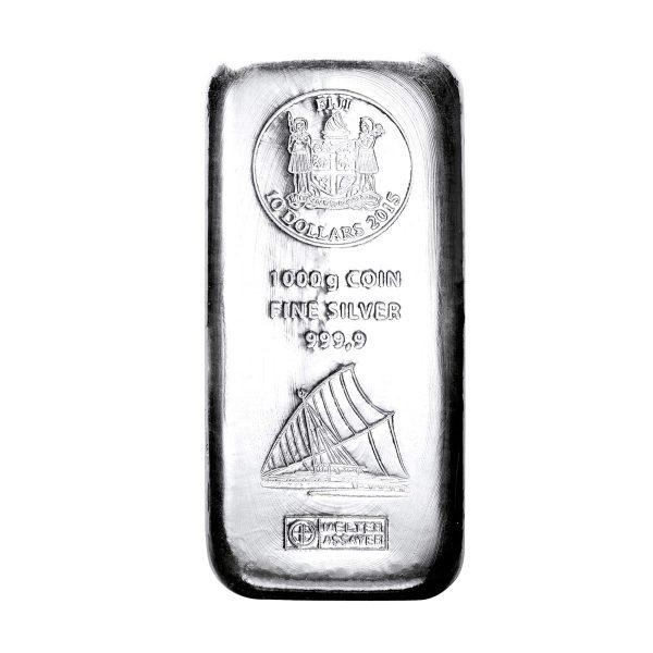 1 kg Silber Fiji Münzbarren (Argor Heraeus)