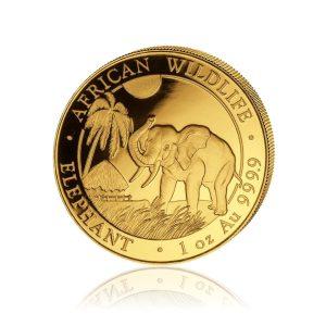 1 Unze Goldmünze Somalia Elefant 2017