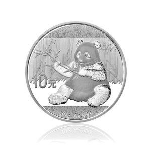30 gr Silbermünze China Panda 2017