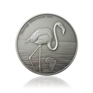 1 Unze Silbermünze Flamingo 2016 Antique Finish (Auflage: 2.000)