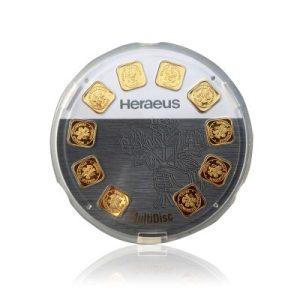 10g (10x1g) MultiDisc Heraeus Goldbarren