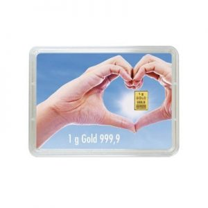 """1g Goldbarren """"Für eine goldene Zukunft"""" (Kippbild)"""
