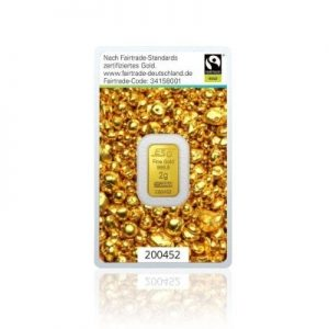 2g Goldbarren Argor Heraeus (Fairtrade)