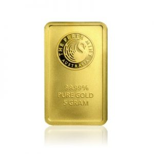 5 g Perth Mint Goldbarren Känguru