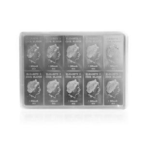 10 x 10 g Silber CombiCoin Münztafel