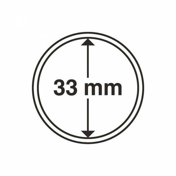 MÜNZKAPSELN 33 MM, 1 Stück