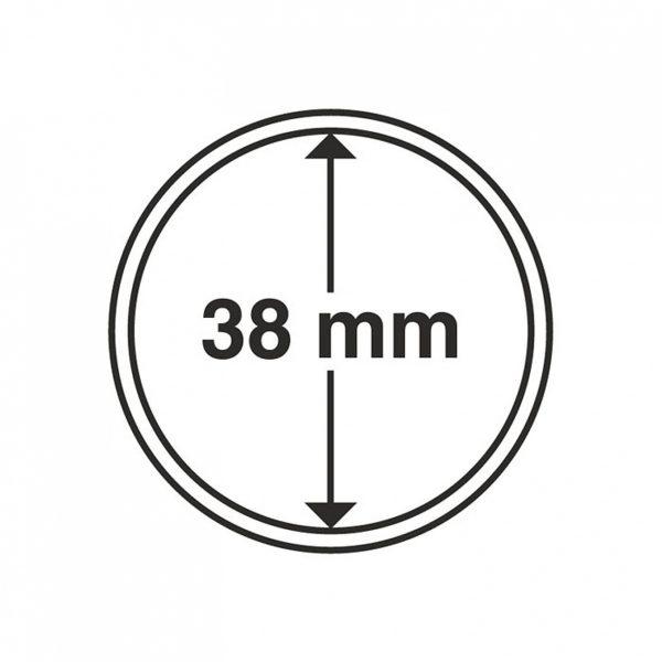 MÜNZKAPSELN 38 MM, 1 Stück