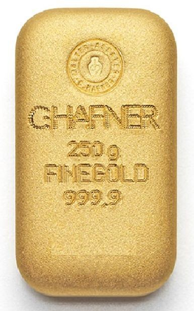 250 Gramm, Goldbarren C. Hafner