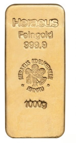 1000 gr Goldbarren Heraeus