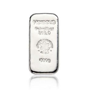 500 gr Silberbarren Heraeus