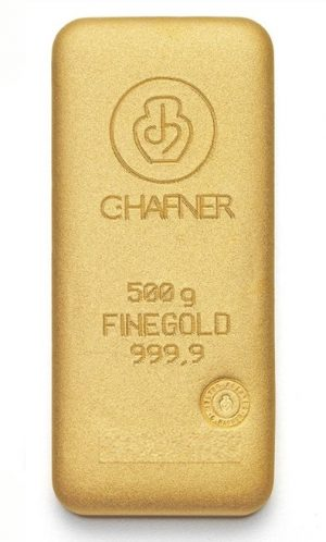 500 Gramm, Goldbarren C. Hafner