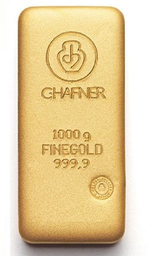1000 Gramm, Goldbarren C. Hafner