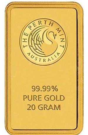 20 g Perth Mint Goldbarren Känguru