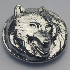 """5 Unze Silber """"Wolf"""", Gußbarren"""
