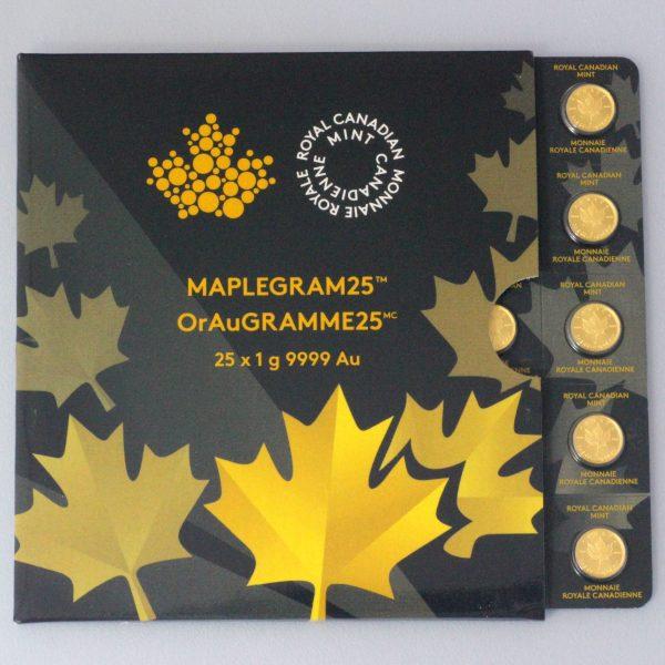 Goldmünze Maple Leaf Maplegram 25 x 1 g