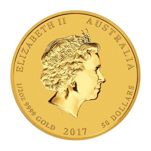 1/2 Unze Lunar II Hahn Gold 2017