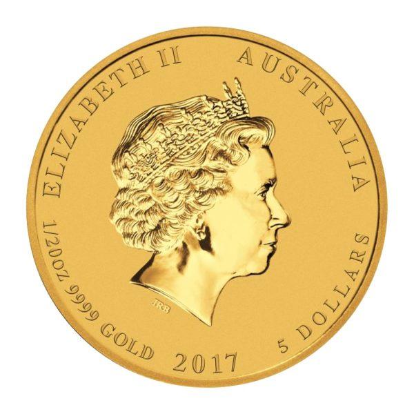 1/20 Unze Lunar II Hahn Gold 2017