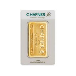 50 Gramm, Goldbarren C. Hafner