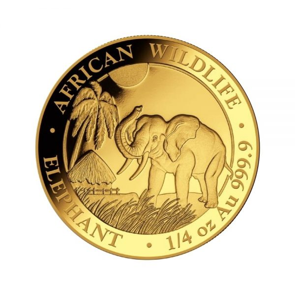 1/4 Unze Goldmünze Somalia Elefant 2017