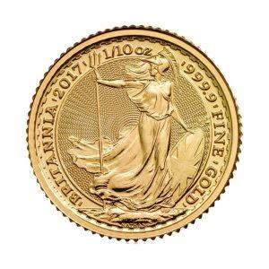 1/10 Unze Goldmünze Britannia 2017