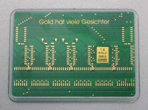 """1g Goldbarren """"Leiterplatte"""" (Valcambi)"""