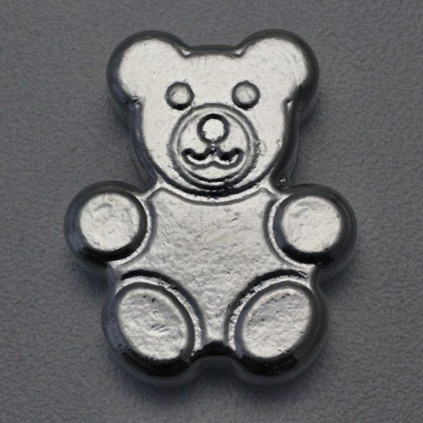 """2 Unzen Silber """"Teddy"""", Gußbarren"""