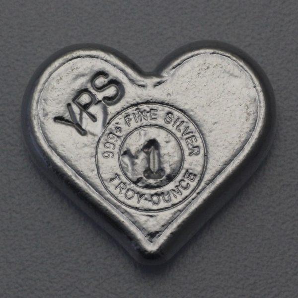 """1 Unze Silber """"Herz"""", Gußbarren"""