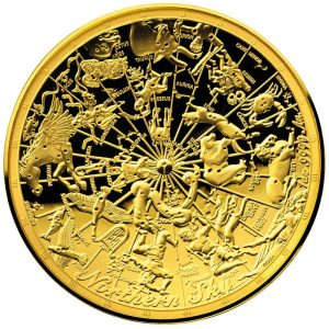 1 Unze Goldmünze Nördlicher Sternenhimmel