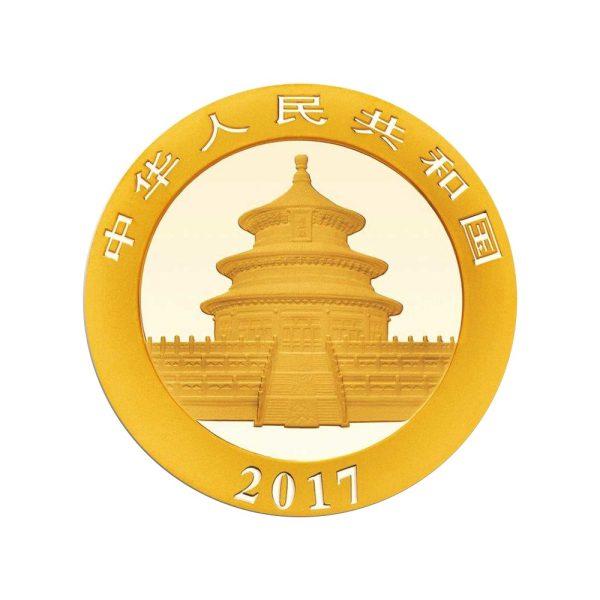 3 Gramm Goldmünze China Panda 2017