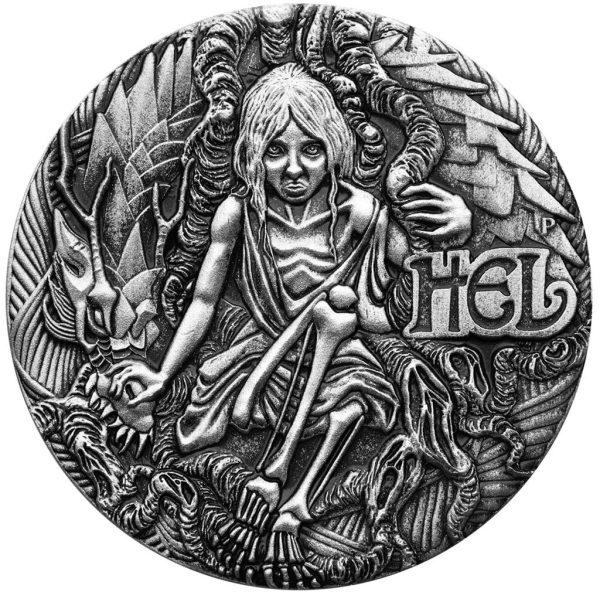 2 Unzen Silbermünze Nordische Göttinnen - Hel (3.) 2017