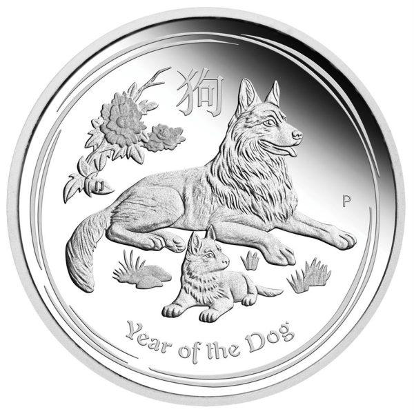 10 Unze Silbermünze Lunar II Hund 2018