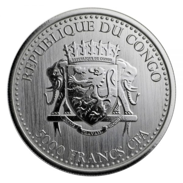 1 Unze Silber Afrika Kongo Silberrücken Gorilla 2017