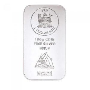 100 gr Silber Fiji Münzbarren (Argor Heraeus)