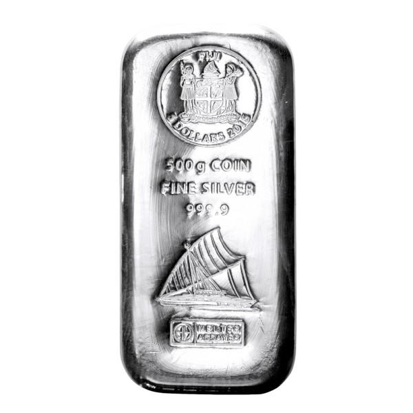 500 gr Silber Fiji Münzbarren (Argor Heraeus)