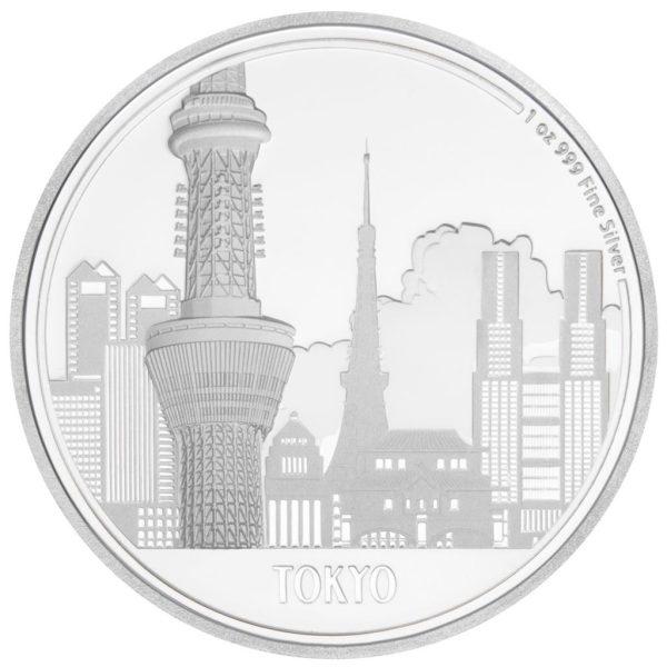 1 Unzen Silbermünze Great Cities Tokio 2017
