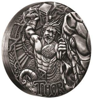2 Unzen Silbermünze Nordische Götter - Thor (2.) 2016