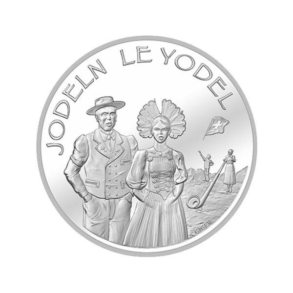 20 CHF Silbermünze Jodeln PP