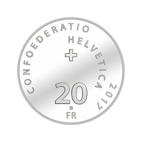 20 CHF Silbermünze 500 Jahre Reformation im Folder