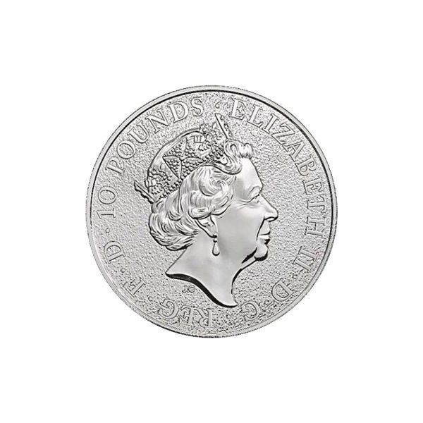 10 Unzen Silbermünze Queens Beasts The Unicorn of Scotland 2018