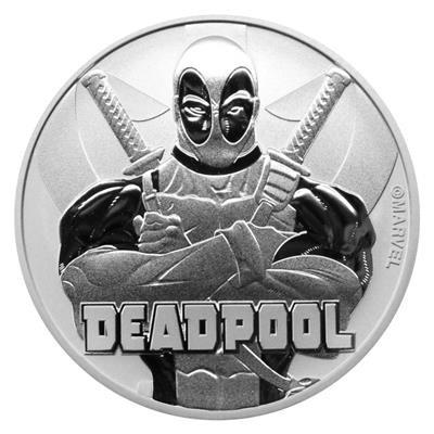 1 Unze Silber Tuvalu Deadpool Marvel Serie 2018