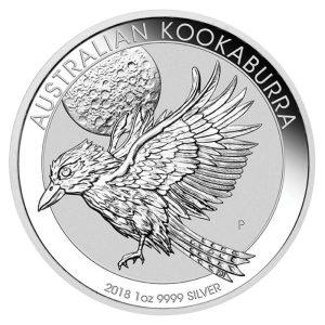 1 Unze Silbermünze Kookaburra 2018