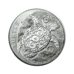 1 Unze Silbermünze Niue Turtle Hawksbill Schildkröte 2018