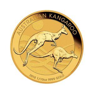 1/10 Unze Goldmünze Känguru Nugget 2018