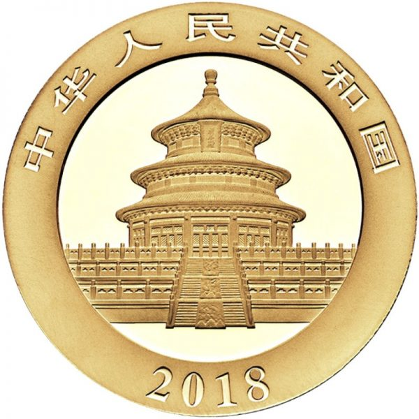 3 Gramm Goldmünze China Panda 2018