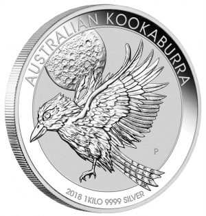1 Kg Silbermünze Kookaburra 2018