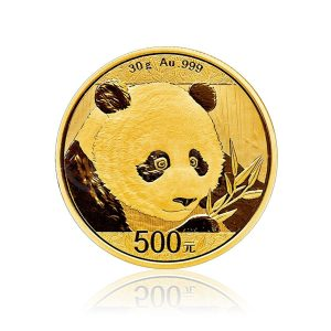 30 Gramm Goldmünze China Panda 2018