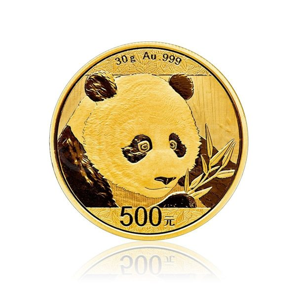 30 Gramm Goldmünze China Panda 2018