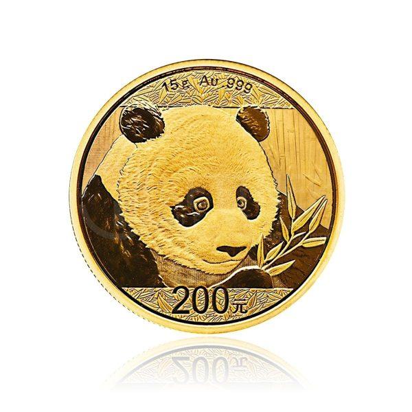 15 Gramm Goldmünze China Panda 2018